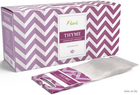 """Чай черный """"Floris. Thyme"""" (20 фильтр-пакетов) — фото, картинка"""