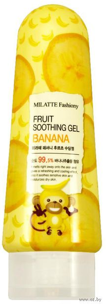 "Гель для тела ""Fashiony Fruit Soothing Gel Banana"" (200 мл) — фото, картинка"