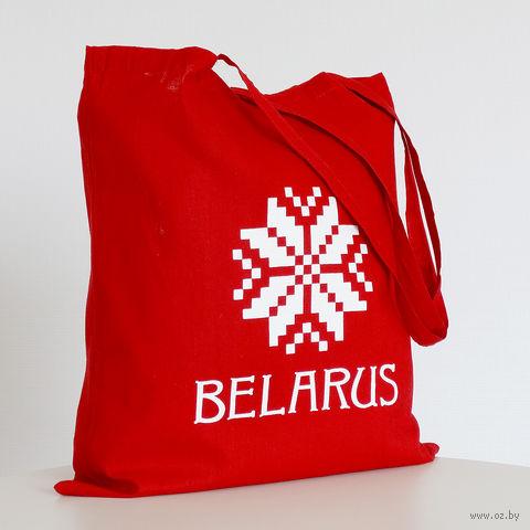 """Сумка с длинными ручками Vitaem """"Belarus"""" (красная)"""