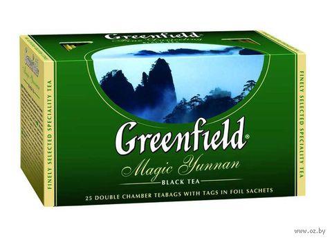 """Чай черный """"Greenfield. Magic Yunnan"""" (25 пакетиков) — фото, картинка"""