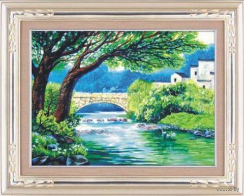 "Алмазная вышивка-мозаика ""Белый мост"" (680х500 мм) — фото, картинка"