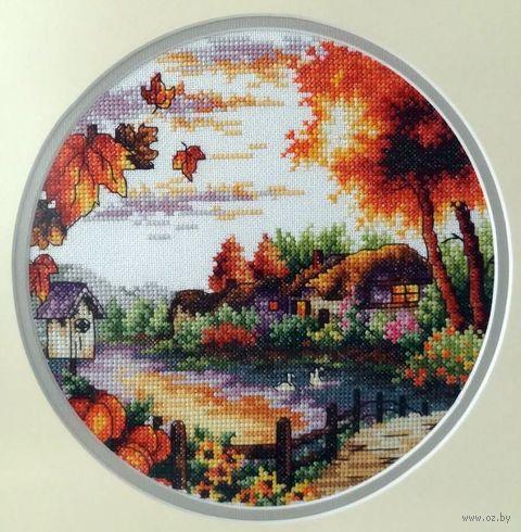 """Вышивка крестом """"Осень"""" (200х200 мм) — фото, картинка"""