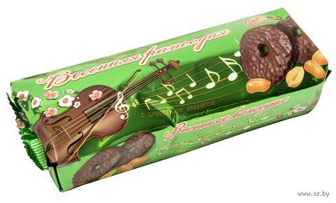 """Печенье глазированное """"Весенняя рапсодия. С дроблёным арахисом"""" (300 г) — фото, картинка"""
