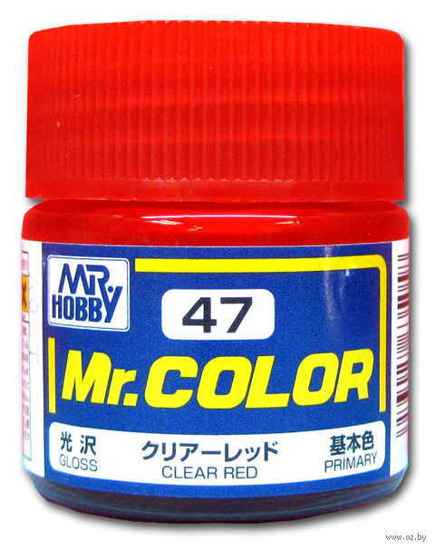 Краска Mr. Color (clear red, C47)