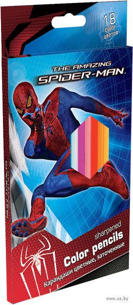 """Карандаши """"Spiderman"""" (18 цветов)"""