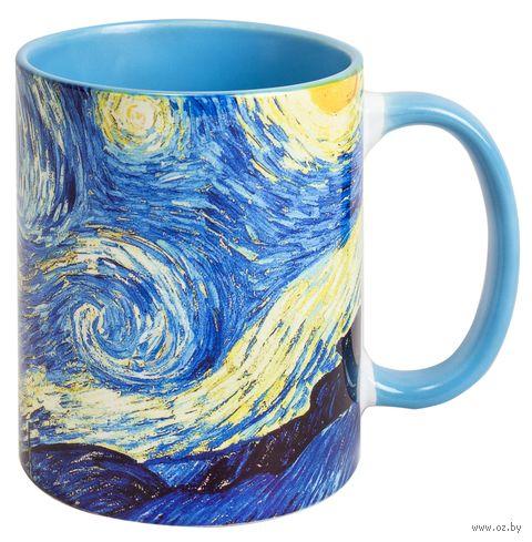 """Кружка """"Ван Гог. Звездная ночь"""" (голубая) — фото, картинка"""