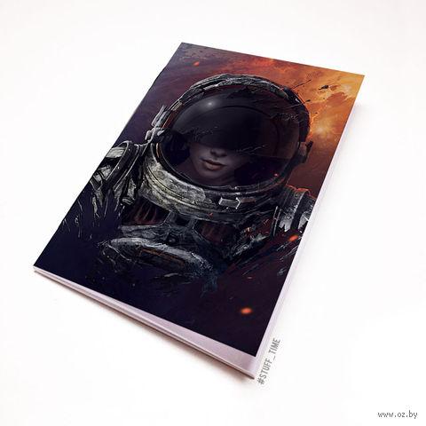 "Блокнот белый ""Космонавт"" А5 (856)"