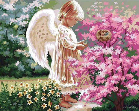 """Картина по номерам """"Ангелочек"""" (400х500 мм) — фото, картинка"""