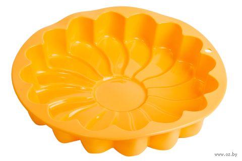 """Форма для выпекания силиконовая """"Ромашка"""" (235х50 мм; персиковый) — фото, картинка"""