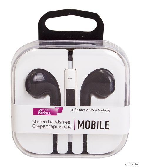 Наушники Partner Mobile (черные) — фото, картинка