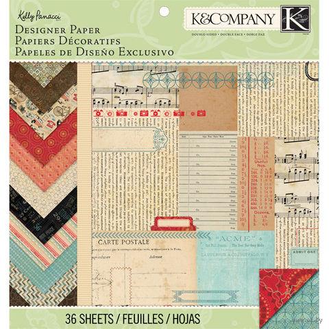 "Набор бумаги для скрапбукинга ""Эклектика. Kelly Panacci"" (310х310 мм; 36 листов)"