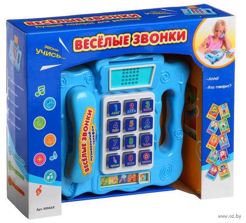 """Развивающая игрушка """"Музыкальный телефон. Веселые звонки"""" (с обучающими карточками)"""