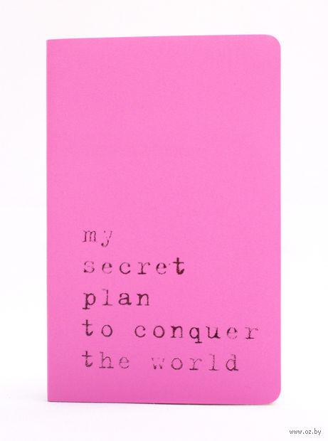 """Записная книжка Молескин """"Volant. My Secret Plan"""" нелинованная (карманная; мягкая светло-розовая обложка)"""