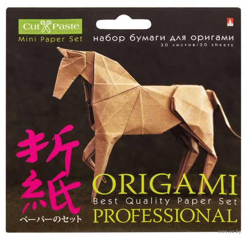 Набор бумаги для оригами (10х10 см; 30 листов) — фото, картинка