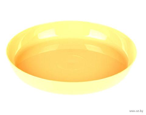 """Подставка для цветочного горшка """"Ага"""" (11 см; желтая) — фото, картинка"""