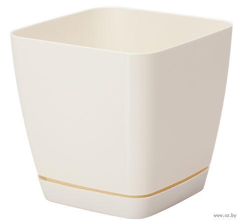 """Цветочный горшок """"Тоскана"""" (15х15х14,5 см; кремовый) — фото, картинка"""