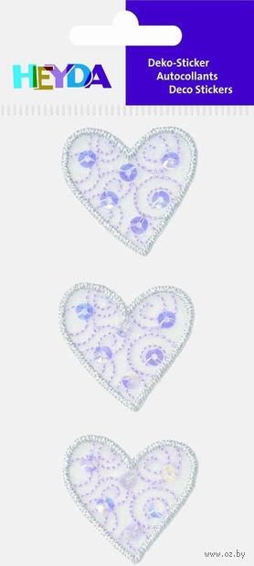 """Аппликация из ткани """"Цветное сердце"""" — фото, картинка"""