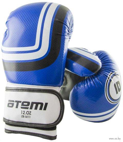 Перчатки боксёрские LTB-16111 (S/M; синие; 6 унций) — фото, картинка