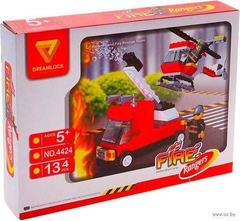 """Конструктор """"Пожарные спасатели. Пожарная техника"""" (134 детали)"""