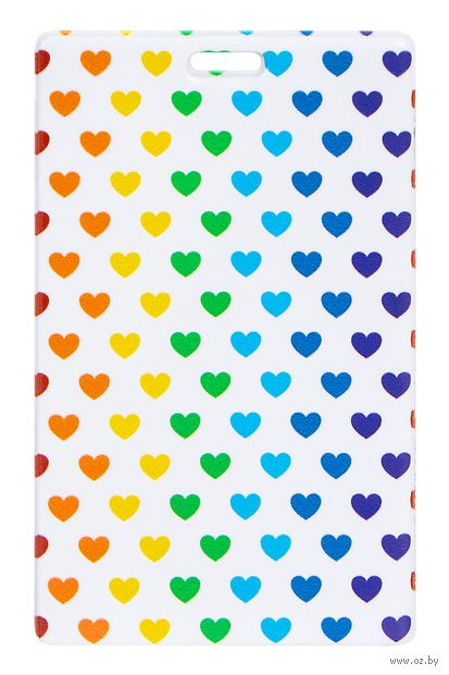 """Держатель для карт """"Multicolored Hearts"""" — фото, картинка"""