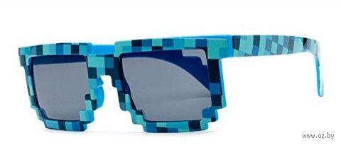 """Пиксельные очки в стиле """"Minecraft"""" (Синие)"""