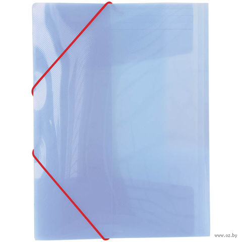 """Папка пластиковая на резинках """"Line"""" (А4; фиолетовая)"""