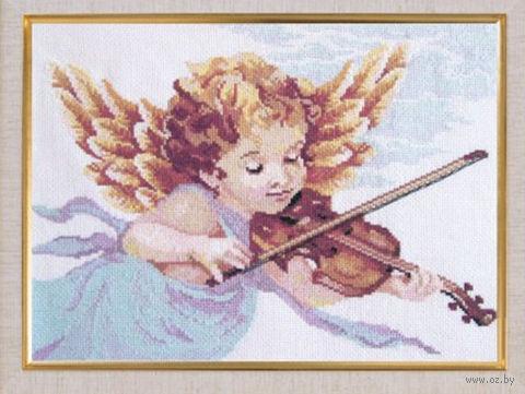 """Вышивка крестом """"Ангел со скрипкой"""""""