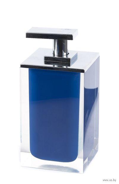 Дозатор для жидкого мыла (300 мл; синий) — фото, картинка