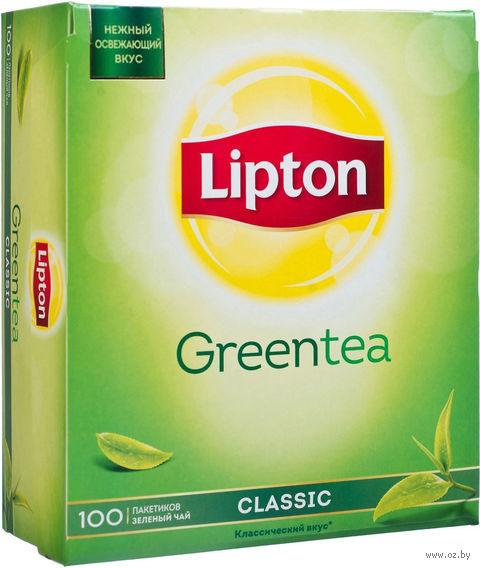"""Чай зеленый """"Lipton. Green Tea Classic"""" (100 пакетиков) — фото, картинка"""