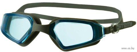 Очки для плавания (серо-голубые; арт. N901) — фото, картинка