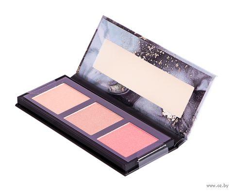 """Палетка для макияжа лица """"Highlight and Blush Glow Palette"""" тон: 010 — фото, картинка"""