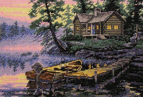"""Вышивка крестом """"Утро на озере"""" (арт. DMS-65091)"""