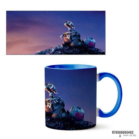 "Кружка ""Wall-e"" (голубая) — фото, картинка"