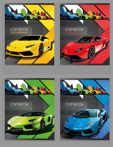 "Тетрадь А5 в клетку 48 листов ""Lamborghini"" (ассорти)"