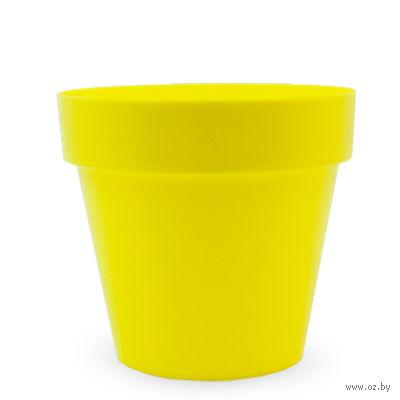"""Цветочный горшок """"Crystal"""" (12 см; желтый) — фото, картинка"""