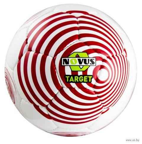 """Мяч футбольный Novus """"Target"""" №5 (бело-красный) — фото, картинка"""