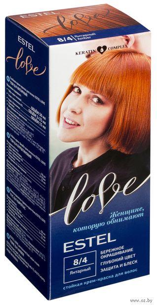 """Крем-краска для волос """"Estel Love"""" (тон: 8/4, янтарный) — фото, картинка"""