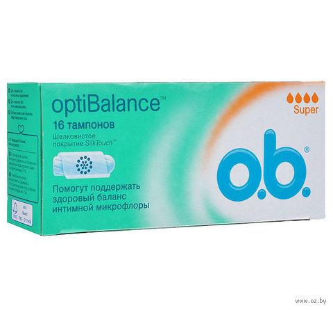 "Тампоны ""OptiBalance. Super"" (16 шт.) — фото, картинка"