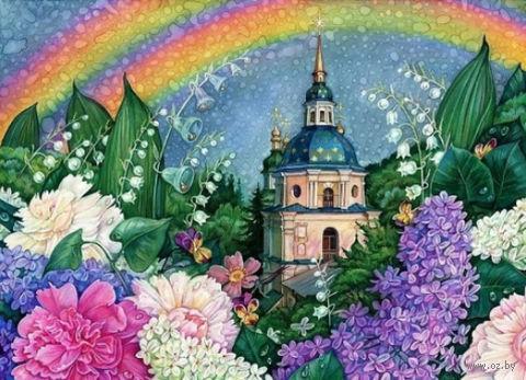 """Алмазная вышивка-мозаика """"В цветах радуги"""" (440х600 мм) — фото, картинка"""