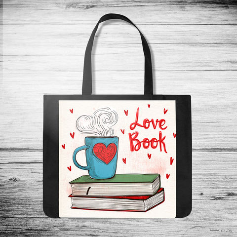 """Сумка-шоппер """"Love book"""" (арт. 38) — фото, картинка"""