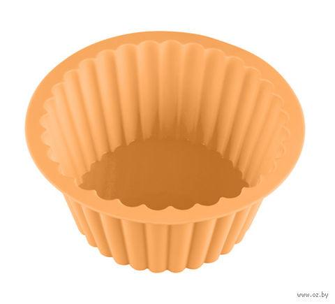 """Форма для выпекания силиконовая """"Бостонский кекс"""" (190х135х85 мм; персиковая) — фото, картинка"""