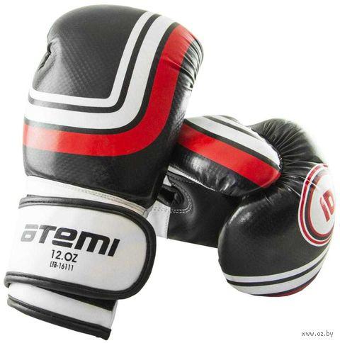 Перчатки боксёрские LTB-16111 (S/M; чёрные; 6 унций) — фото, картинка