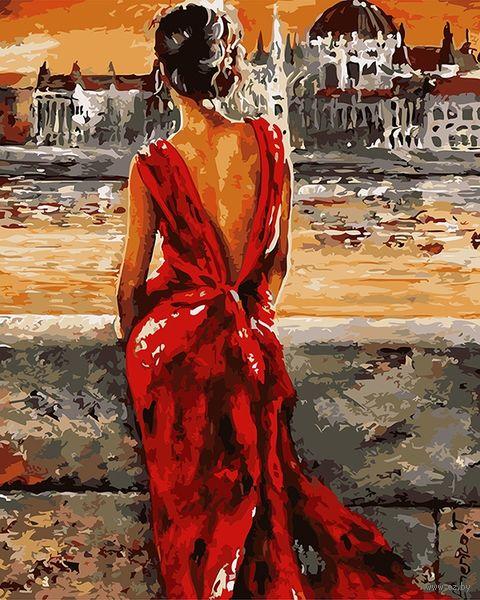 """Картина по номерам """"Раздумья у реки"""" (500х650 мм) — фото, картинка"""