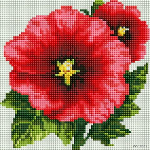 """Алмазная вышивка-мозаика """"Аленький цветочек"""" (190х190 мм) — фото, картинка"""