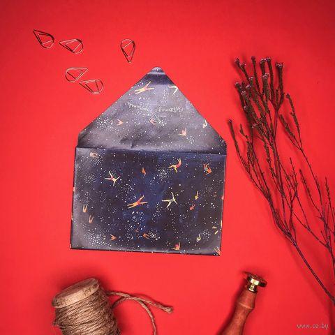 """Конверт подарочный """"Звездная ночь"""" (10х15 см) — фото, картинка"""