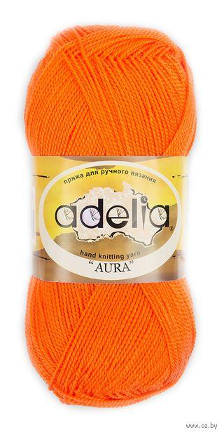 """Пряжа """"Adelia. Aura №119"""" (50 г; 250 м; оранжевый неон) — фото, картинка"""