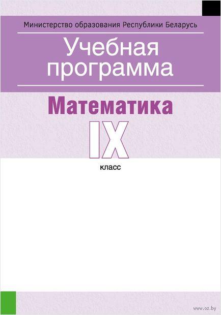 Учебная программа. Математика. IX клаcс — фото, картинка