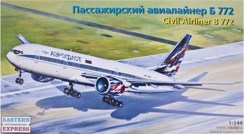 Пассажирский авиалайнер Б 772 (масштаб: 1/144)