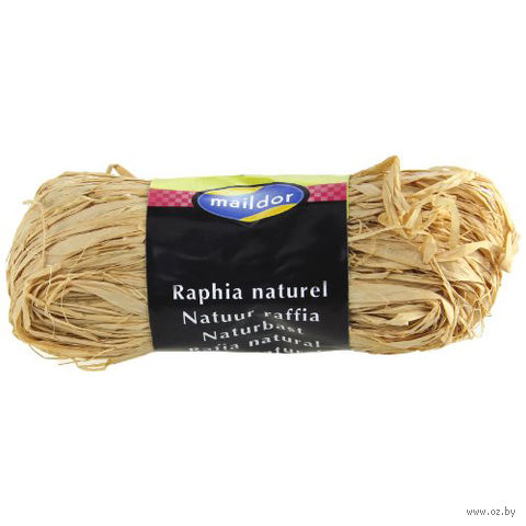 "Подарочная лента ""Natural Raffia"" (бежевая)"