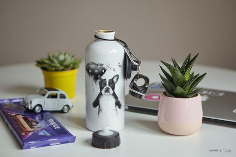"Бутылка ""Собака с шариком"" (600 мл; арт. 9) — фото, картинка"